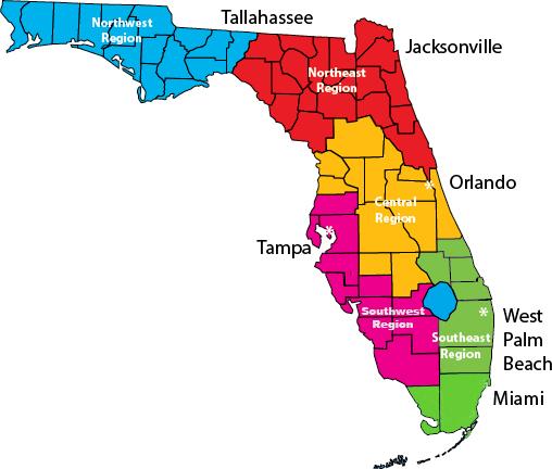 FSOSW Regional Map